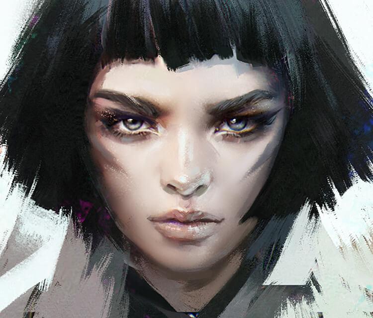 Black Hair digitalart by Aleksei Vinogradov