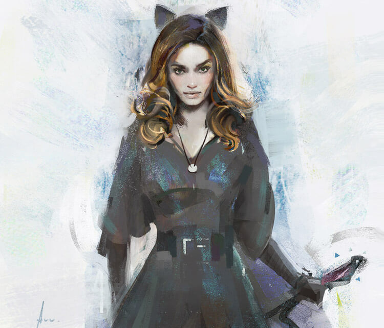 Cat girl digitalart by Aleksei Vinogradov