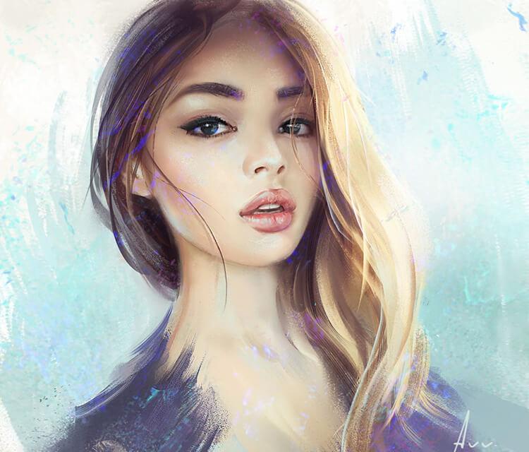 Lily digitalart by Aleksei Vinogradov