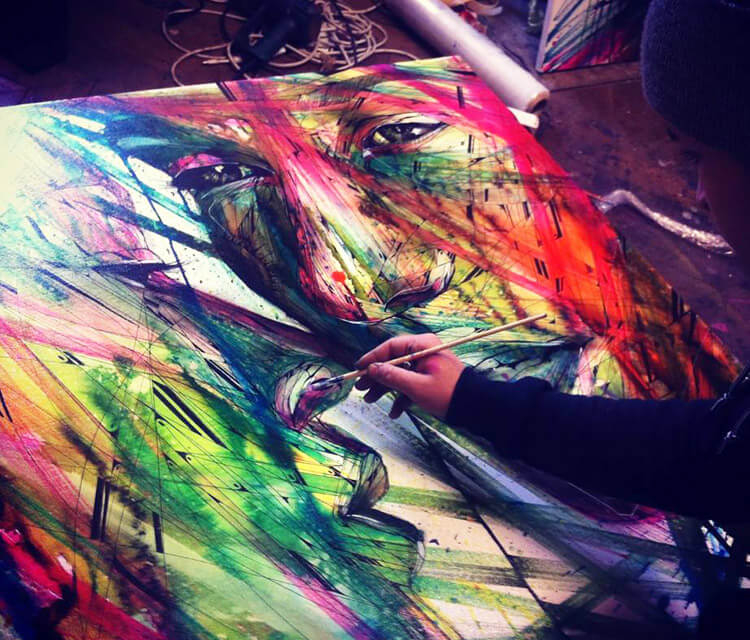 Acrylic Painting on Canvas acryl painting by Alex Hopare