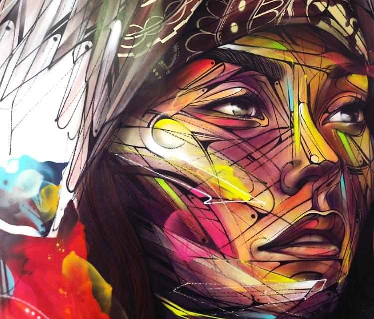 Studio H2G detail streetart by Alex Hopare