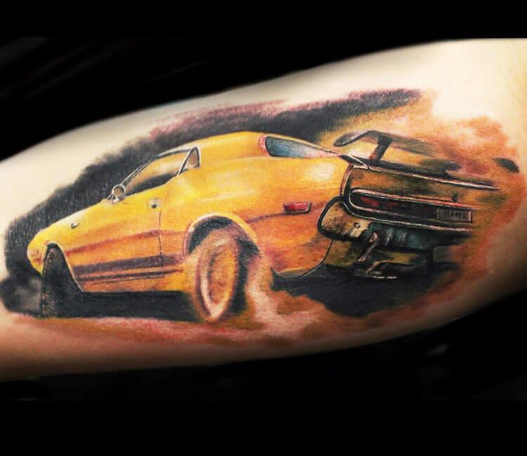 car tattoo by Alexander Romashev
