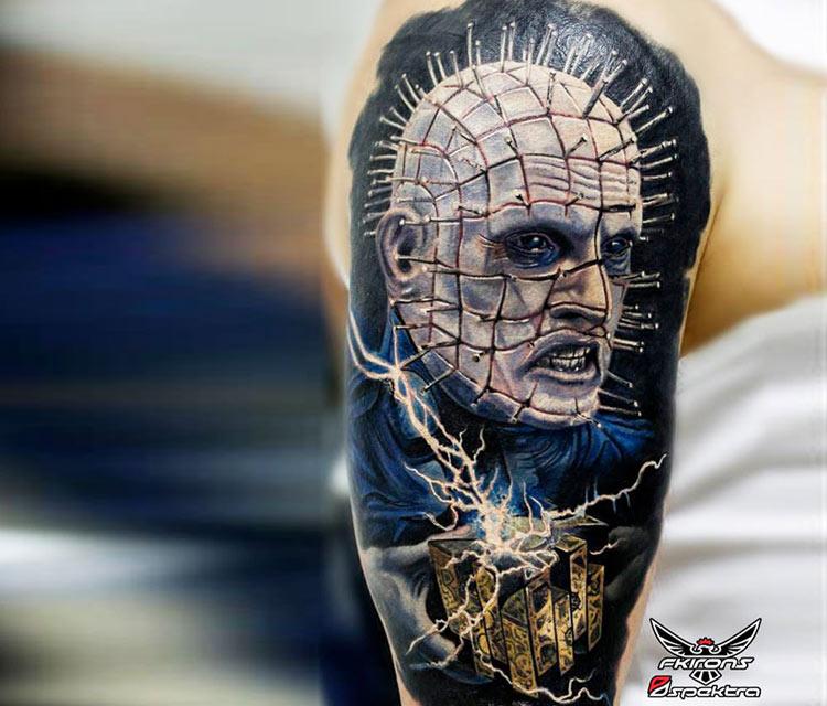 Hellraiser tattoo by Alexander Romashev