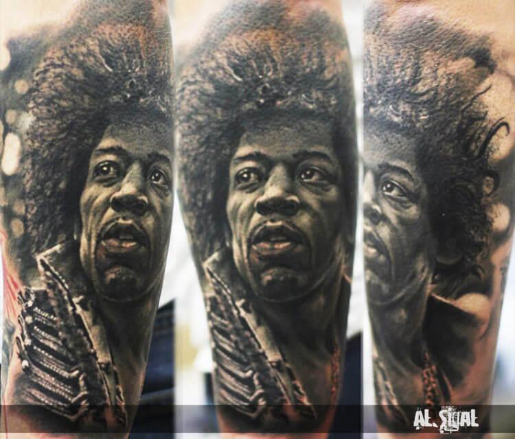 Jimmy Hendix tattoo by Alexander Romashev