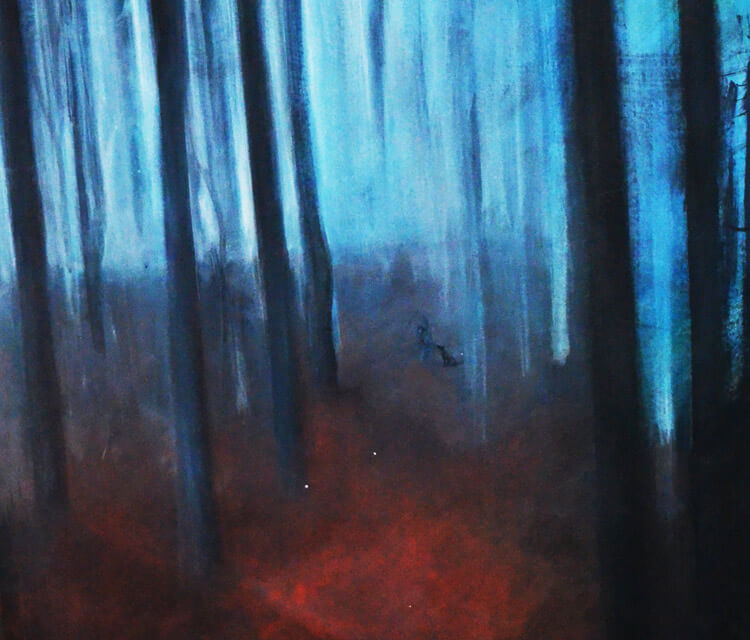 Forest painting by Alexandra Hudecova