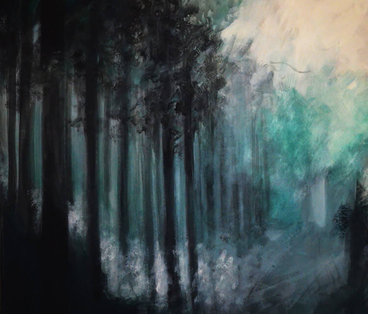 Forest 3 painting by Alexandra Hudecova