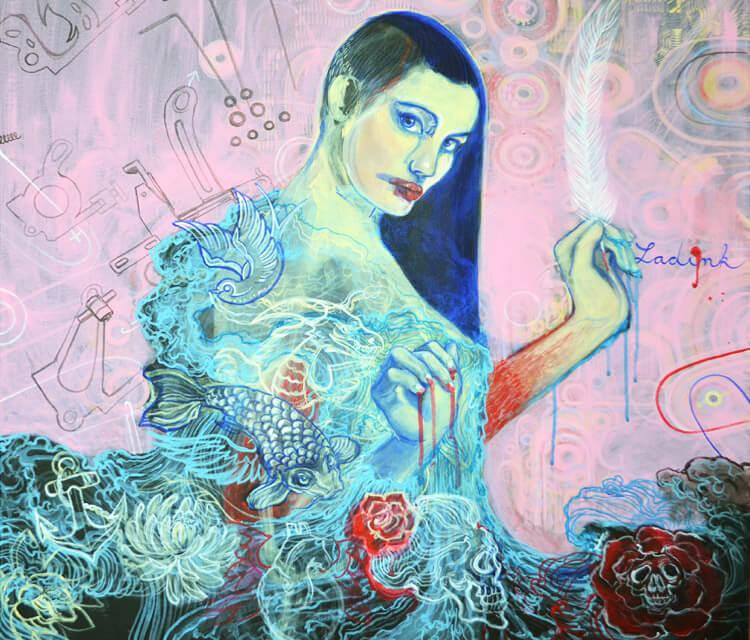 Kafka painting by Alexandra Hudecova