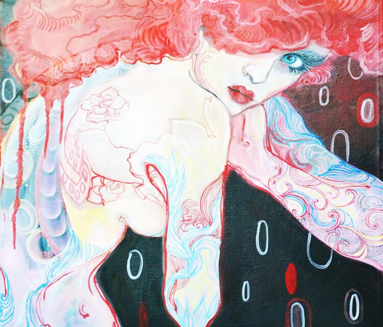 Sila painting by Alexandra Hudecova
