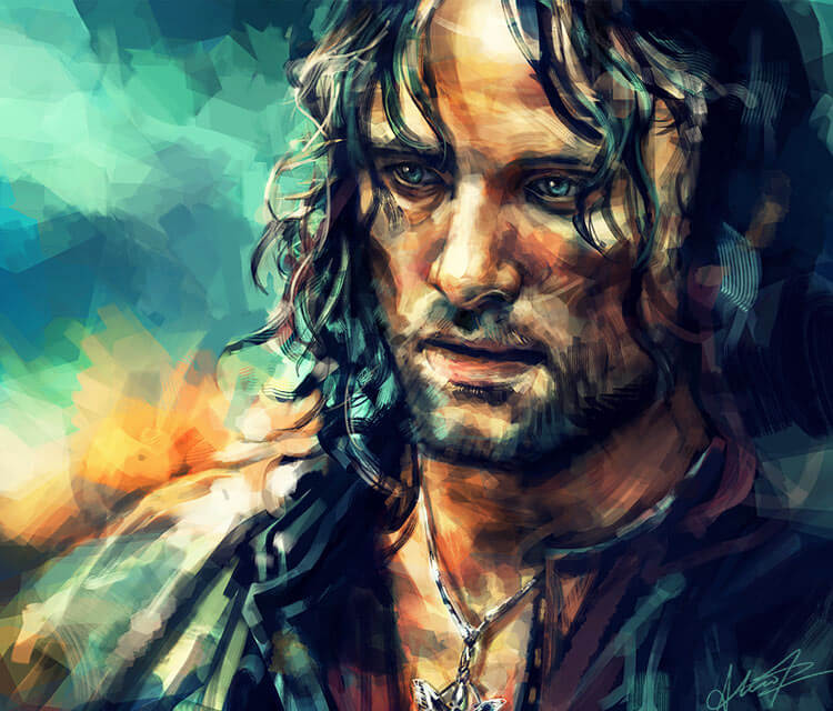 Aragorn painting by Alice X Zhang
