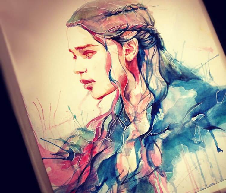 Daenerys Targaryen painting by Alice X Zhang