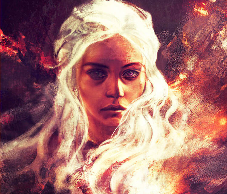 Daenerys Targaryen 4 digitalart by Alice X Zhang