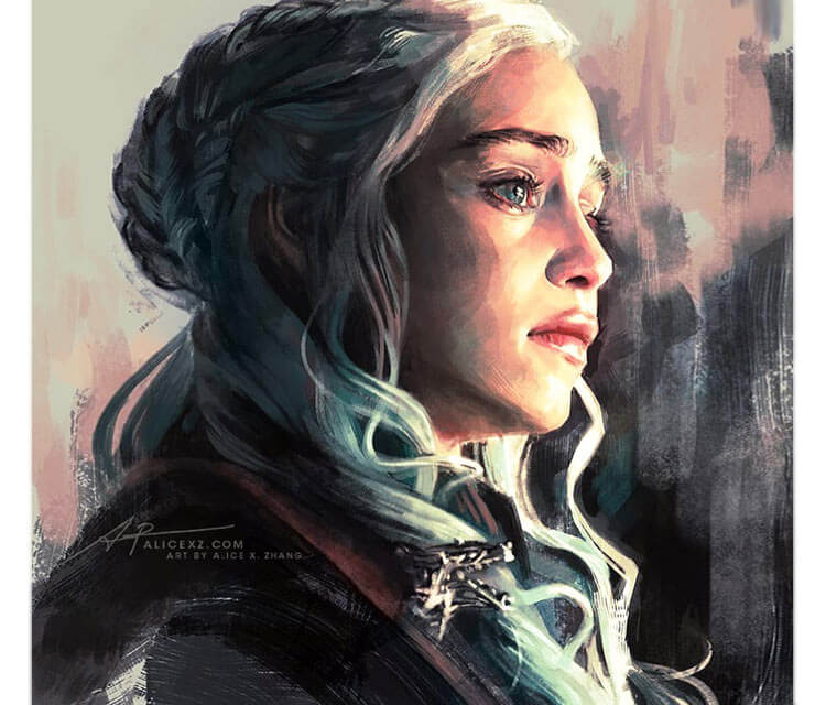 Daenerys, digitalart by Alice X Zhang