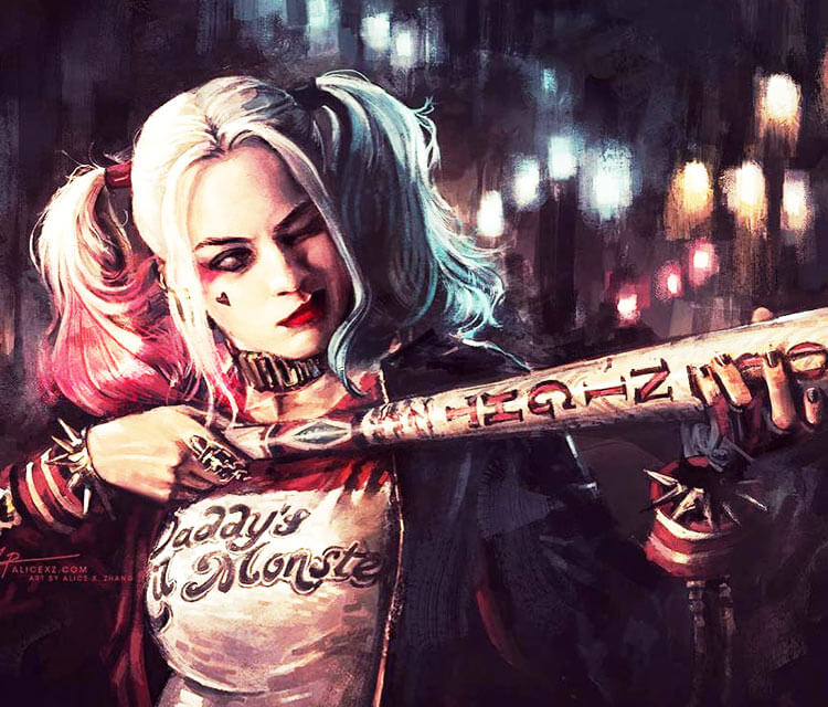 Harley Quinn digitalart by Alice X Zhang