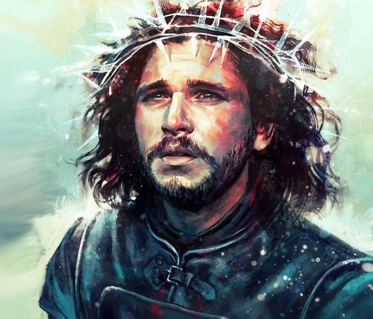 Jon Snow in a Crown digitalart by Alice X Zhang