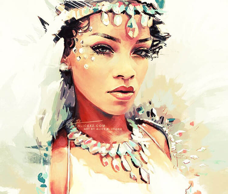 Rihanna digitalart by Alice X Zhang