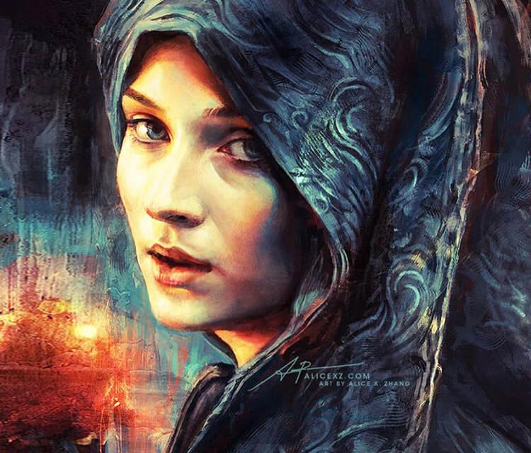 Sansa Stark digitalart by Alice X Zhang