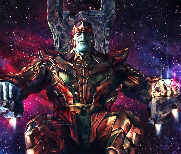 Thanos digitalart by Alice X Zhang