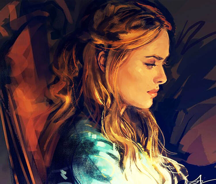 The Queen Regent digitalart by Alice X Zhang