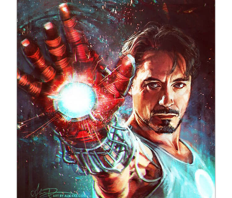 Tony Stark digitalart by Alice X Zhang