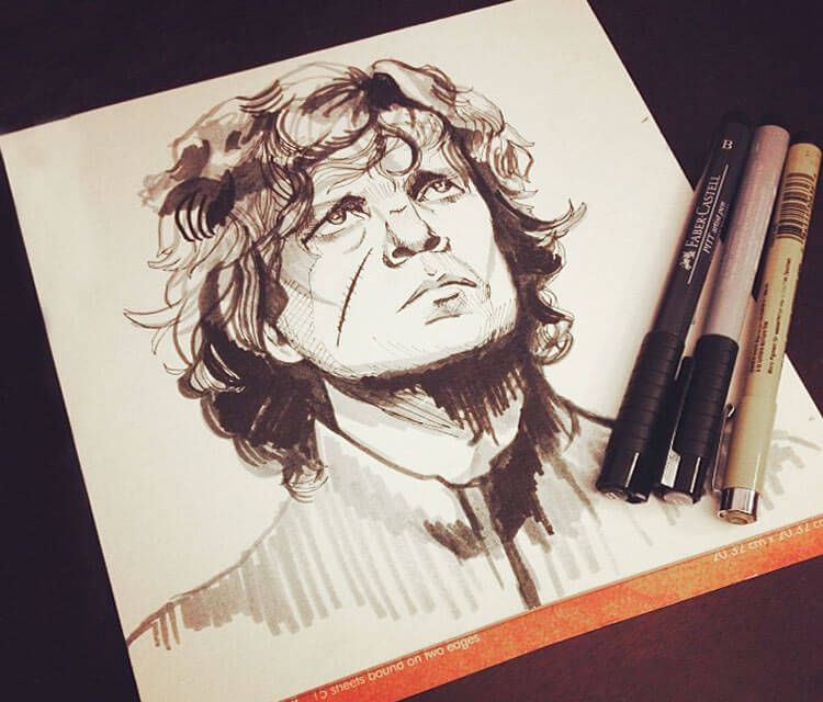 Tyrion Lannister marker drawing by Alice X Zhang