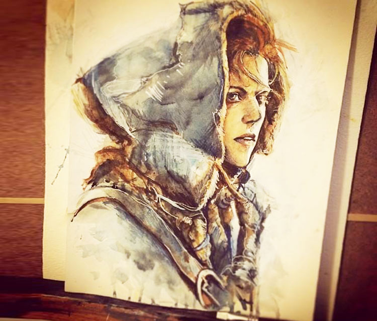 Ygritte painting by Alice X Zhang