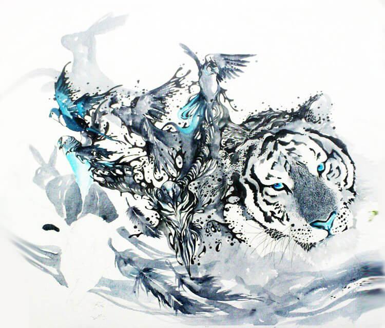 Watercolor painting by Art Jongkie