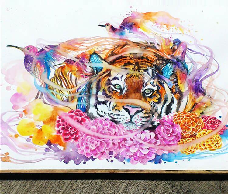 Animals nature watercolor by Art Jongkie