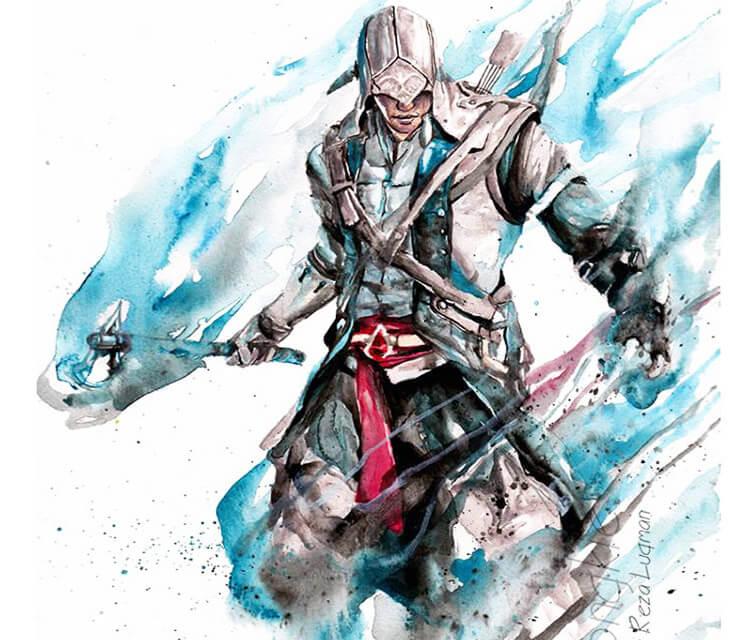 Connor watercolor by Jongkie Art