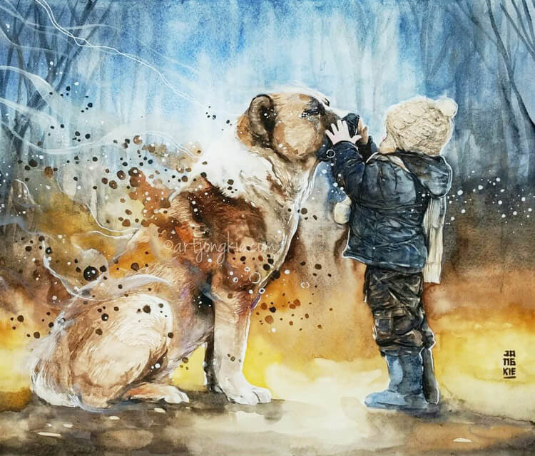 Best friend painting by art jongkie no 658 for Top websites for artists