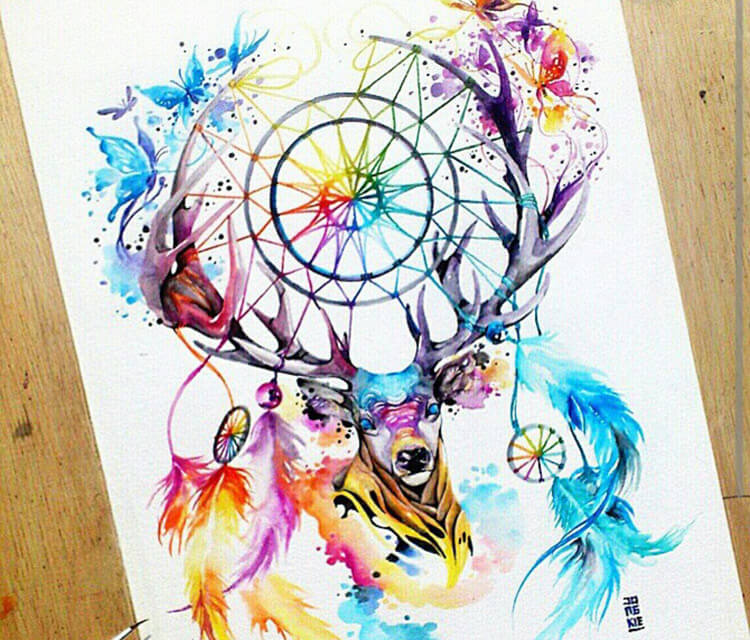 Dream watercolor by Art Jongkie
