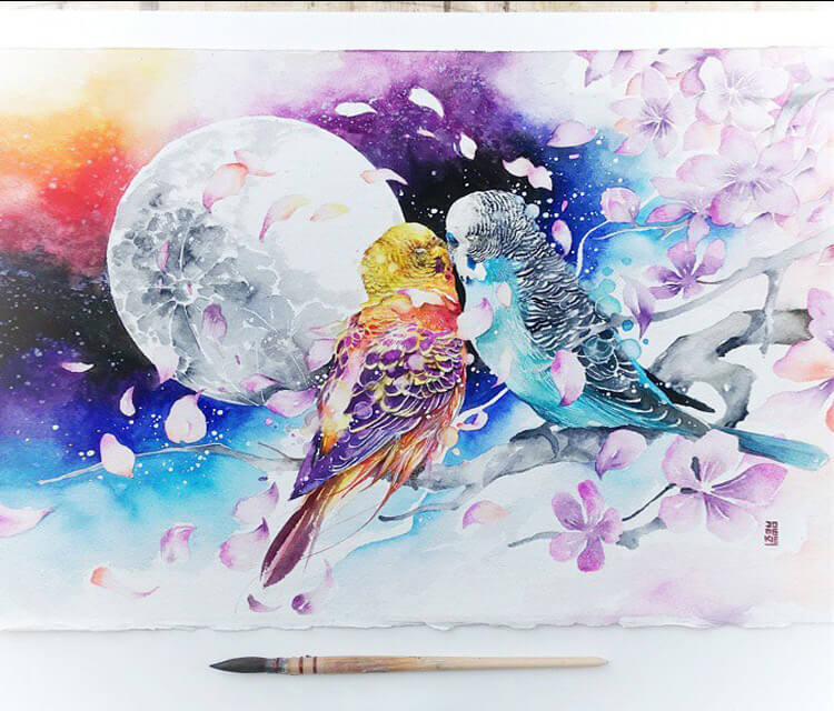 Kiss Me Heal Me painting by Art Jongkie