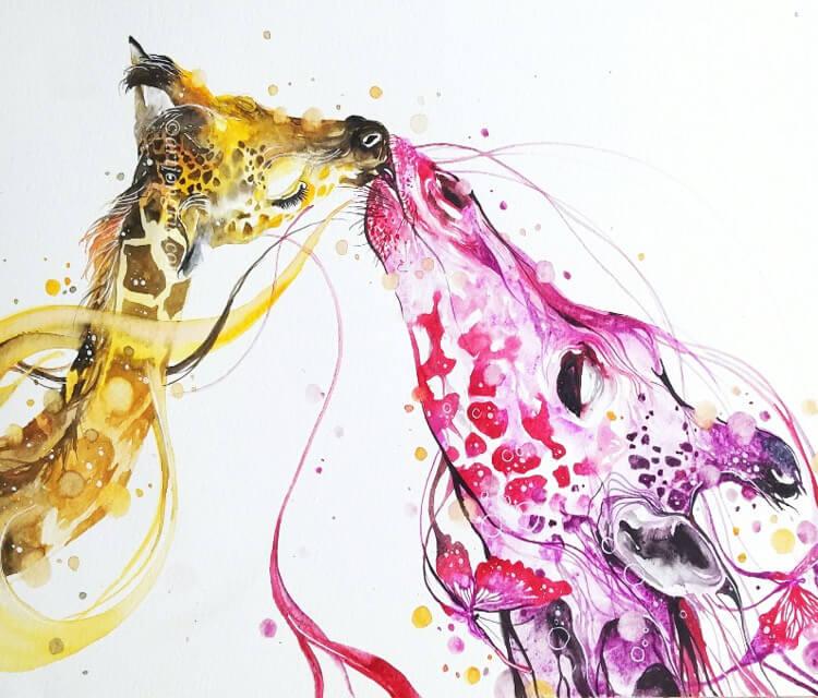 My love watercolor by Art Jongkie