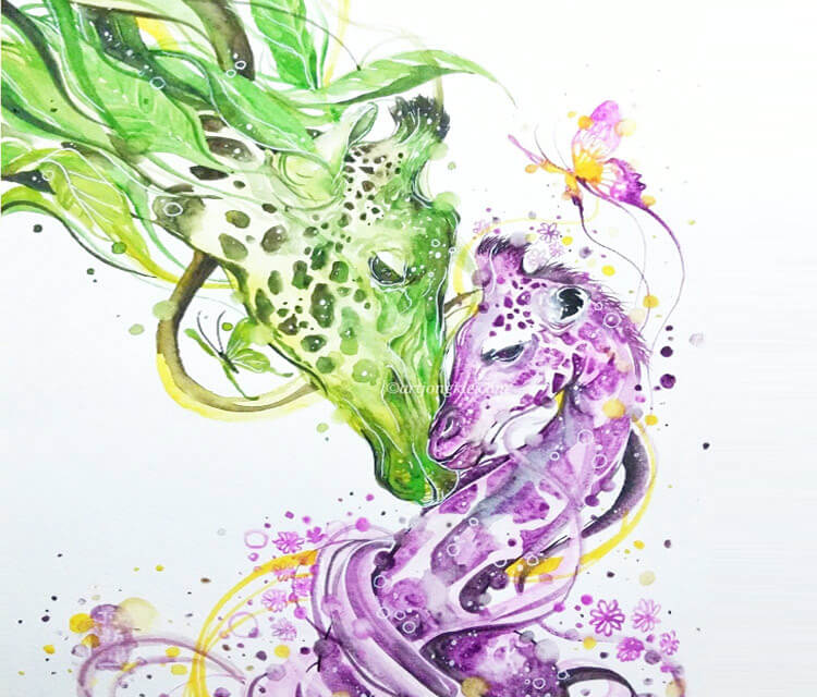 My Precious watercolor by Art Jongkie