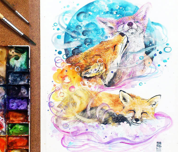 Only you watercolor by Art Jongkie