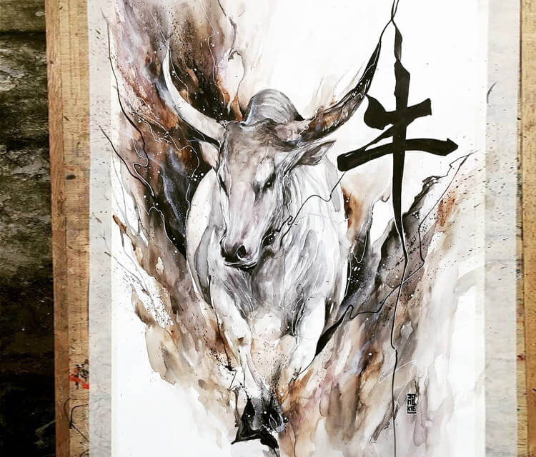 The Ox painting by Art Jongkie