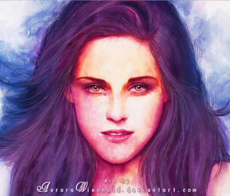 Bella Cullen watercolor painting by Aurora Wienhold