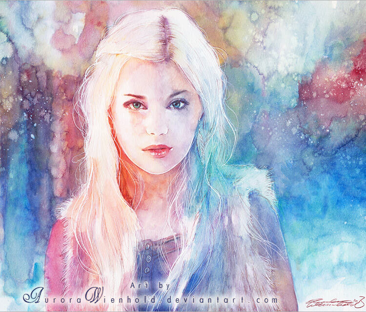 Frozen times watercolor painting by Aurora Wienhold