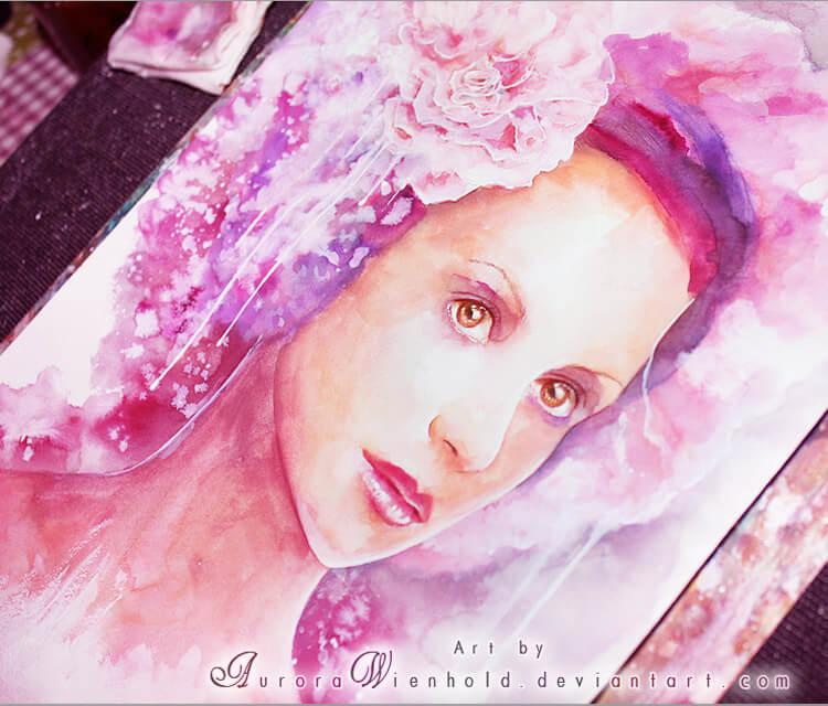 La Vie En Fleur watercolor painting by Aurora Wienhold