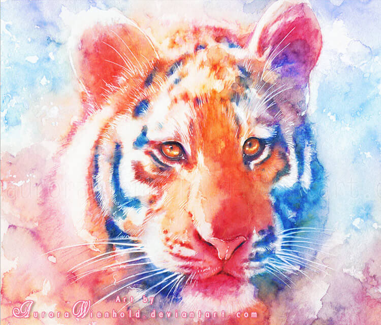 Staring into your soul watercolor painting by Aurora Wienhold