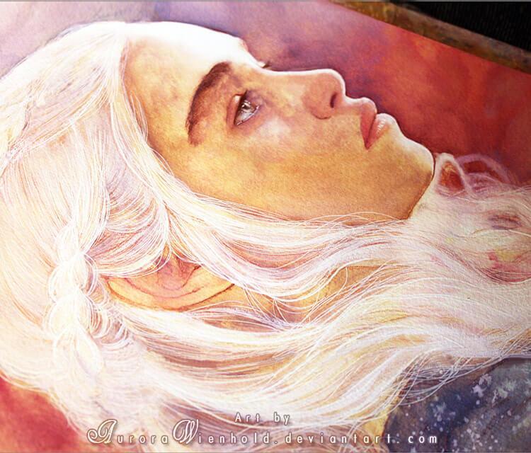 Daenerys Targaryen painting by Aurora Wienhold