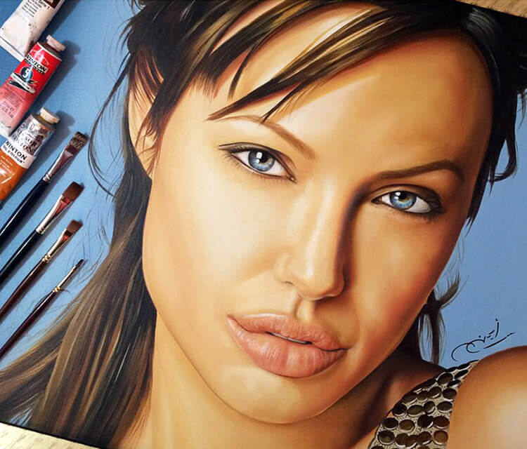 Portraits of Angelina Jolie by Ayman Arts