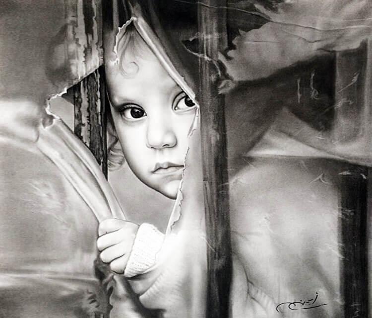 Black and Gray drawing by Ayman Arts