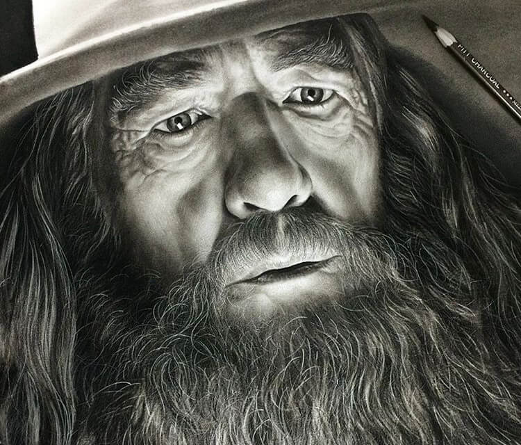 Gandalf the grey drawing by Ayman Arts