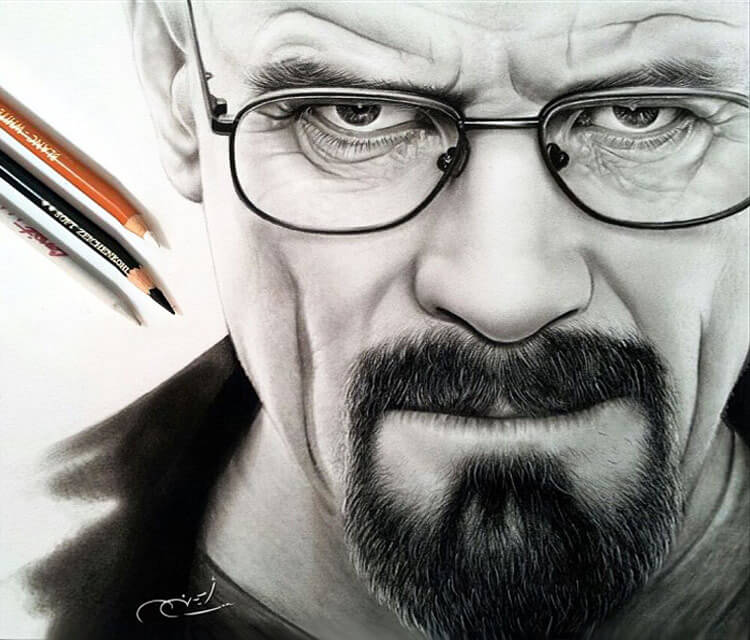 Portrait drawing of Heisenberg by Ayman Arts