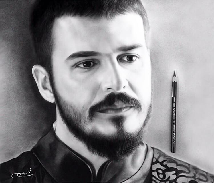 Pencil portrait Drawing by Ayman Arts