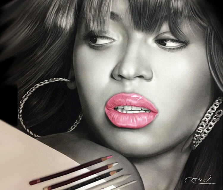 Portrait drawing of Beyonce by Ayman Arts
