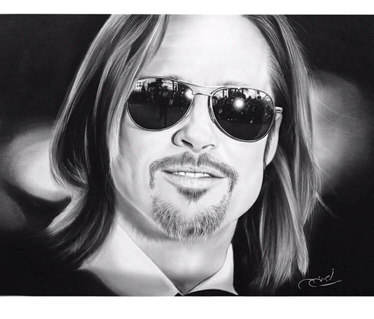 Portrait drawing of Leonardo Dicaprio by Ayman Arts