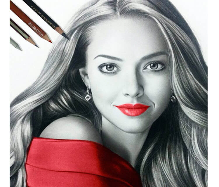 Drawing portrait of woman by Ayman Arts