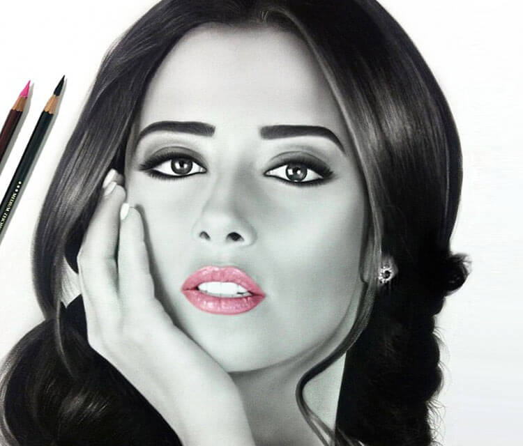 Woman portrait 5 drawing by Ayman Arts