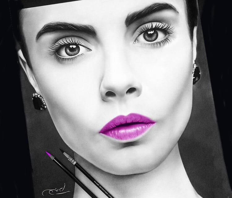 Woman portrait 6 drawing by Ayman Arts